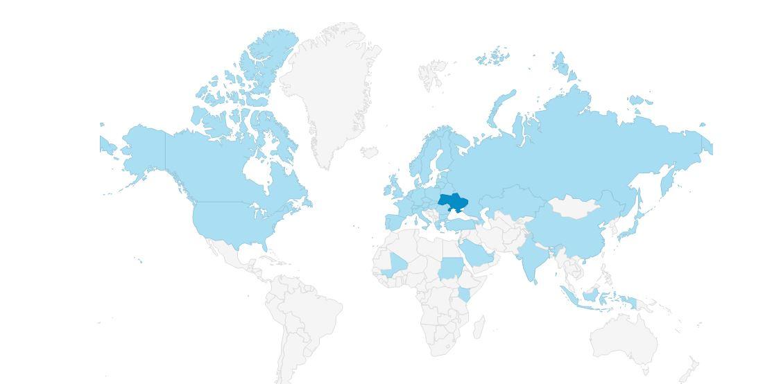 Географія користувачів