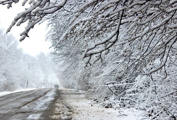 До району завітала справжня зима