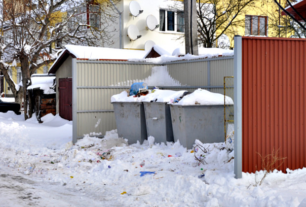Снігопад завалив дорогу до міського сміттєзвалища