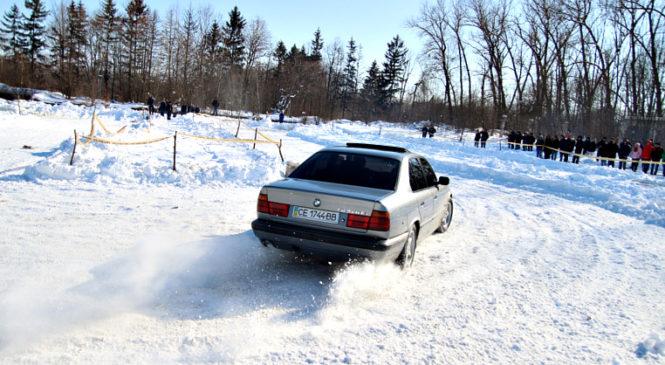 В Сторожинці відбулися змагання з снігового дрифту
