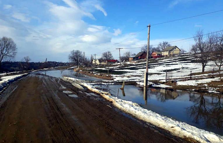 Затоплення водою дорогу