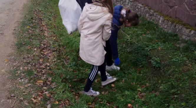 Зруб-Комарівські школярі провели в селі суботник благоустрою