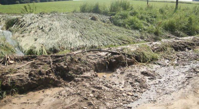 Після зливи вода знову наробила шкоди по Кобилянській у Сторожинці